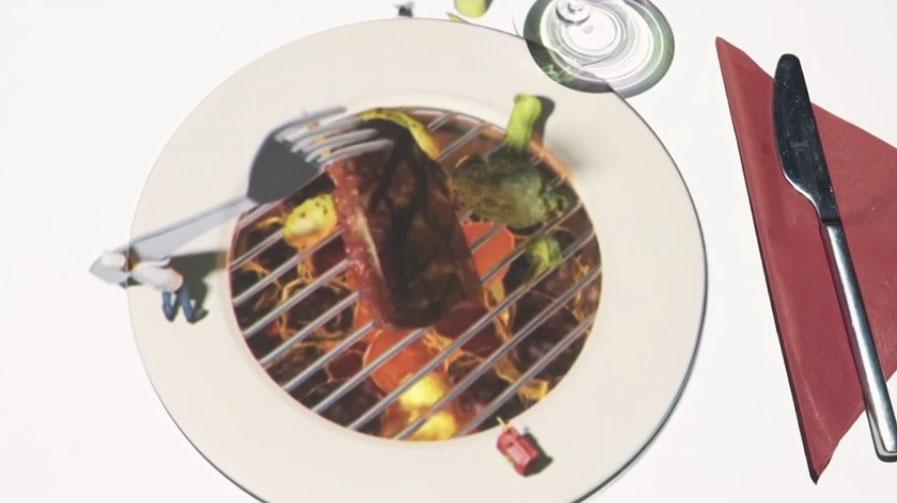 コレどうやってるの?小さなサイズのシェフが皿で料理を作ってくれる!?